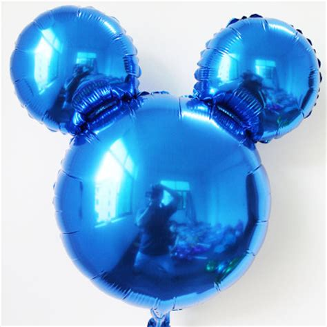 mickey mouse light up balloons mouse ears shaped balloons 18 inch blue mickey