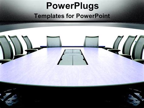 Powerpoint Template Grey Conference Room In An Office Building With Chairs For Meeting On Team Conference Ppt Template