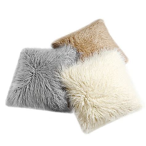 decorinnovation 18 inch mongolian lamb faux fur square
