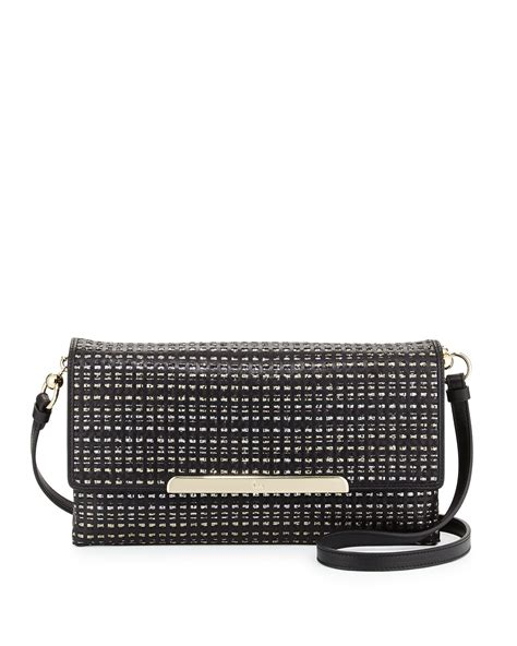 Christian Louboutin Alpaca Clutch by Lyst Christian Louboutin Rougissime Optic Woven Leather