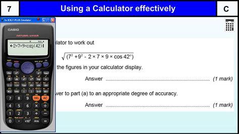 calculator level 24 gcse maths topics list aqa judgemeadow community college