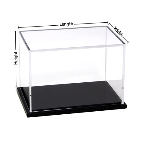 Acrylic Box custom size acrylic display box with black base buy