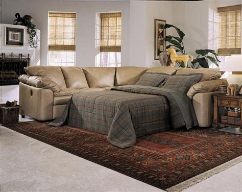Leather Sectional Sleeper Sofa With Recliners Sectional Sofa With Sleeper And Recliner