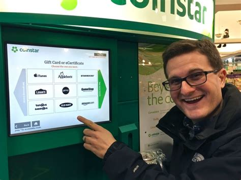 Coinstar Gift Card Options - lessons learned at the coinstar machine