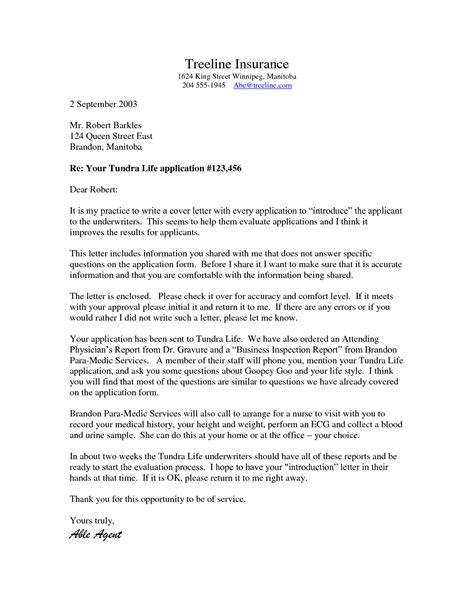 Insurance Auditor Cover Letter by Insurance Underwriter Cover Letter Exles Cover Letter Templates