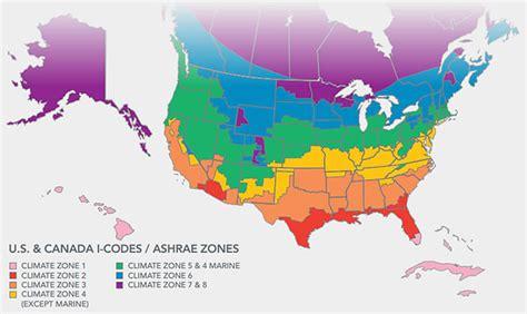 map us climate zones climate zone map including canada greenbuildingadvisor