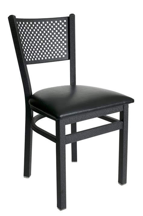 commercial dining chair metal perforated back commercial dining chair bar