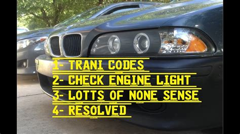 bmw check engine light codes bmw 528i e39 check engine light and no codes the fix youtube