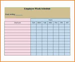 Employee Schedule Template by 4 Employee Work Schedule Template Authorization Letter