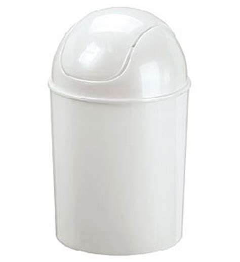Mini Swing Top Trash Can White Gloss In Small Trash Cans