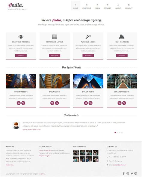bootstrap responsive photoshop template