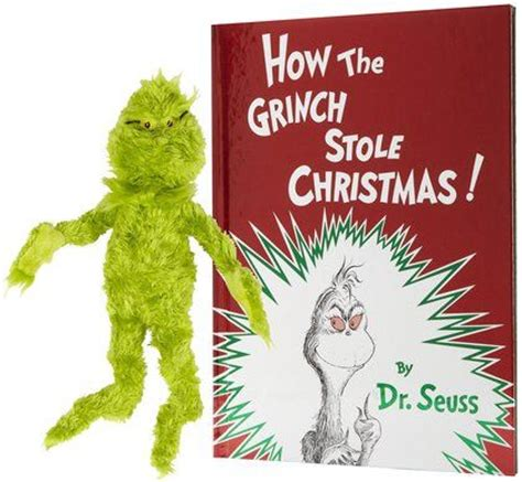 how the grinch stole christmas book plush