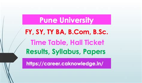 Mba Syllabus Pune 2016 Pattern by Pune Ba Ma Result 2018 Unipune Tyba Result