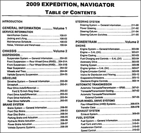 auto repair manual online 2009 ford expedition parental controls 2009 ford expedition lincoln navigator repair shop manual 2 volume set