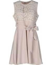 darling darling floral border print dress in beige (cream