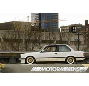 White BMW 325i E30 On Gold BBS RS  Zone