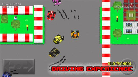 pixel race pixel karts gp plus the retro racing game zooms into