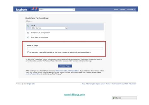 how to setup a facebook fan page in blurbs how to setup a facebook fan page