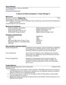 new graduate resume sle new graduate electrical engineering resume sales