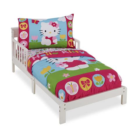 kmart baby bedding hello kitty 4 piece toddler s bedding set baby baby