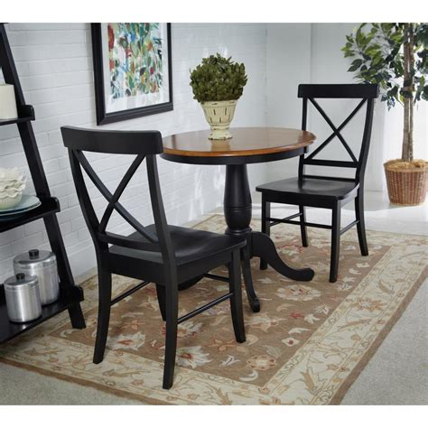 Black Wooden Dining Chairs - safavieh black wood dining chair set of 2 amh8500b