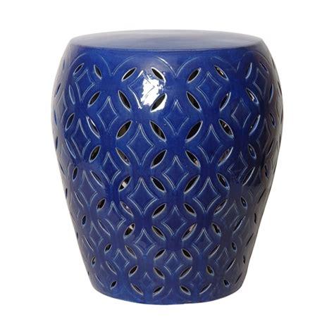 lattice garden stool emissary 12784bl large lattice garden stool blue
