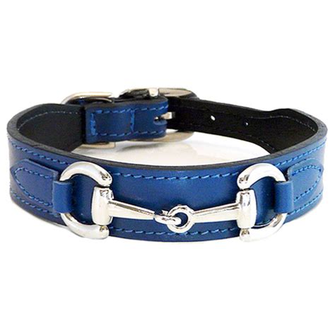 collar boutique gucci poochie italian leather collar cobalt blue designer collars at