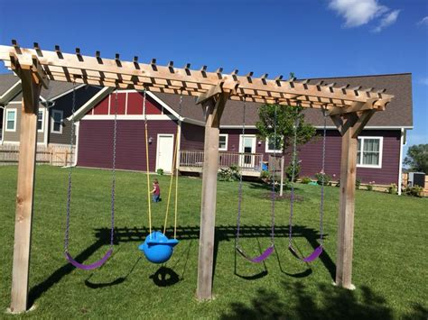 pergola swing set 1000 images about stuff on diy swing backyards and outdoor swings