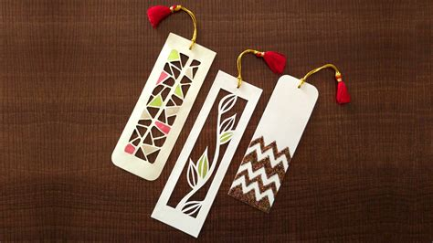How To Make A Bookmark With Paper - how to make bookmarks paper cutting
