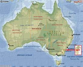 Canberra World Map by Canberra Map