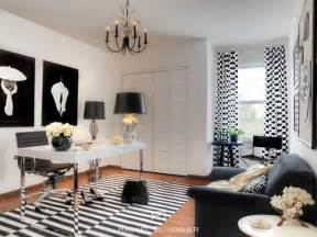Black And White Home Decor by Black Amp White Office Eclectic Home Office San