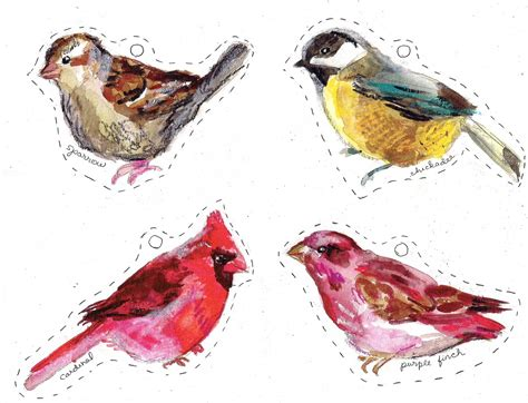 printable bird ornaments winter birds free printables making it lovely