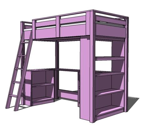 Loft Bed Woodworking Plans The Way To Avoid Injuries In Loft Bed With Desk Plans