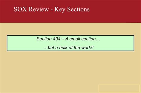 section 404a sox in telecom industry
