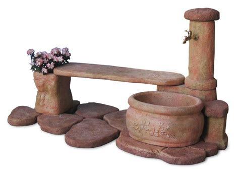 panchina da giardino fontana azalea con panchina r c di rinaldi geom franco