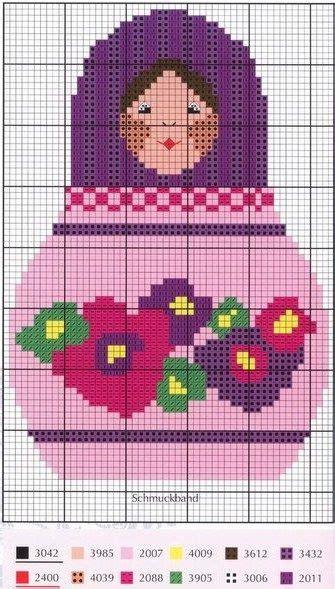 matryoshka pattern pinterest matryoshka cross stitch chart punto de cruz pinterest