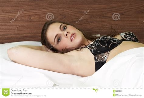 pretty girl beds pretty girl in bed stock image image 2223001
