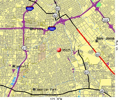 san jose income map 95125 zip code san jose california profile homes