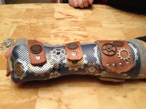 irti funny picture  tags steampunk broken arm cast plaster