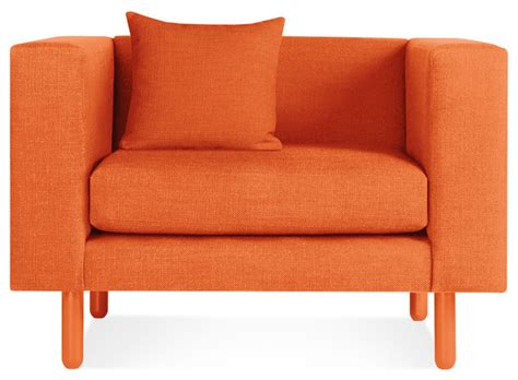 orange living room chair blu dot mono lounge chair orange modern living room chairs