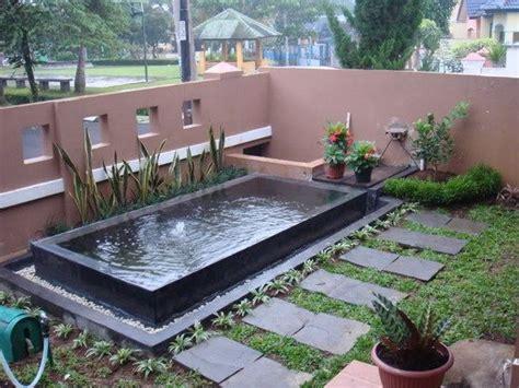 desain kolam ikan minimalis  halaman rumah home   ponds backyard tiny garden ideas