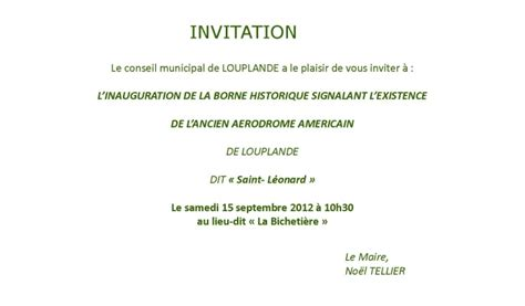 Exemple De Lettre D Invitation Inauguration Modele Invitation Inauguration Document