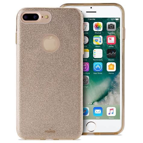 Luxury Soft Back Tpu Sulada Swarovski Iphone 7 iphone 7 plus iphone 8 plus puro glitter gold
