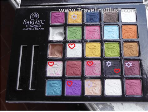 Sariayu Make Up Pallete eotd and swatches sariayu 25 best choices eyeshadow
