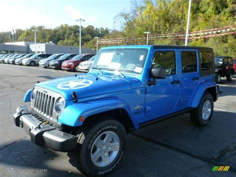 hydro blue jeep 2014 hydro blue pearl jeep wrangler unlimited sport 4x4