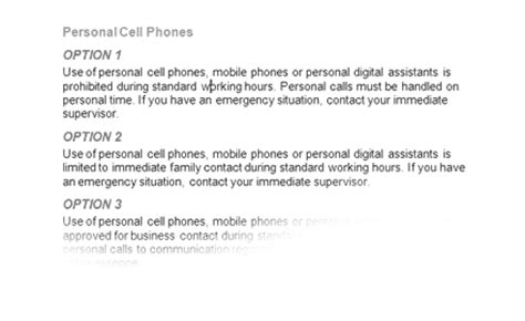 mobile phone policy in the workplace template cell phone employee policy information about severe