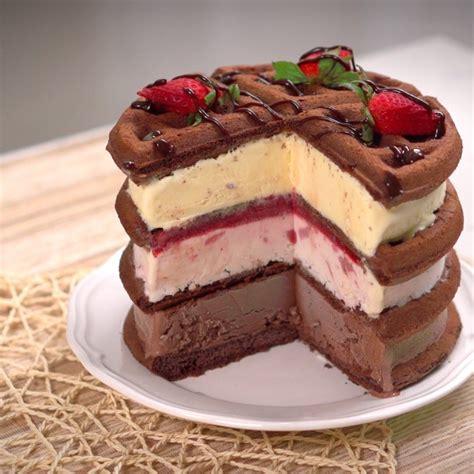 icecream cake waffle cake sponsored by food network food