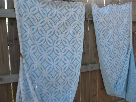 matching bedspread and curtains vintage blue cotton chenille full queen bedspread matching
