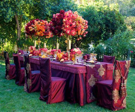 asian wedding table centerpieces tone color table setting asian wedding ideas