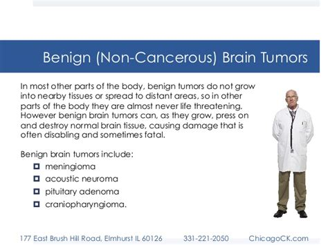 cancerous tumor on brain tumors malignant vs benign